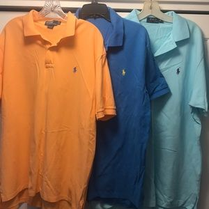 (3) Polo Ralph Lauren short sleeve shirts adult XL